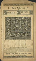 Advert for Treloar & Sons, carpet manufacturers